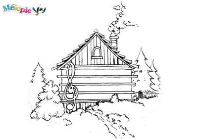 maison portée coloriage