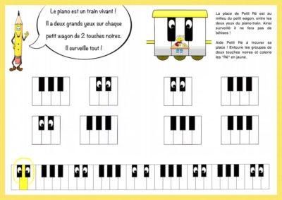 exercice piano enfant