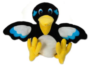 marionnette oiseau pie