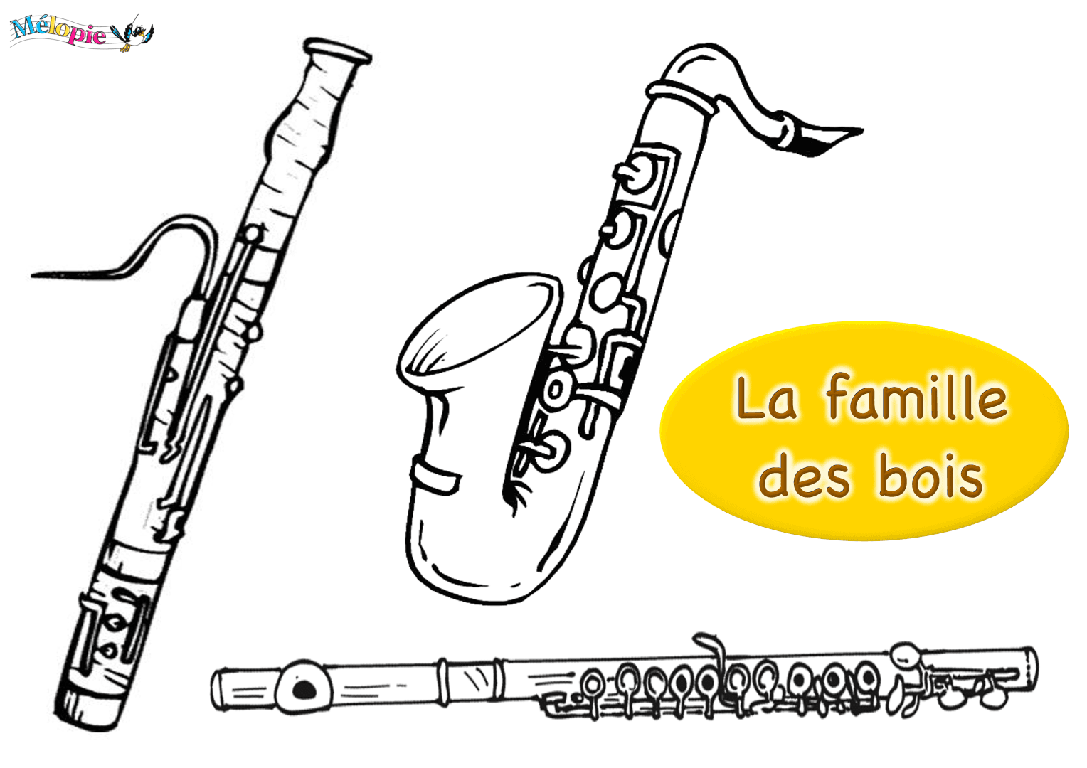 Dessin saxophone m lopie - Saxophone dessin ...