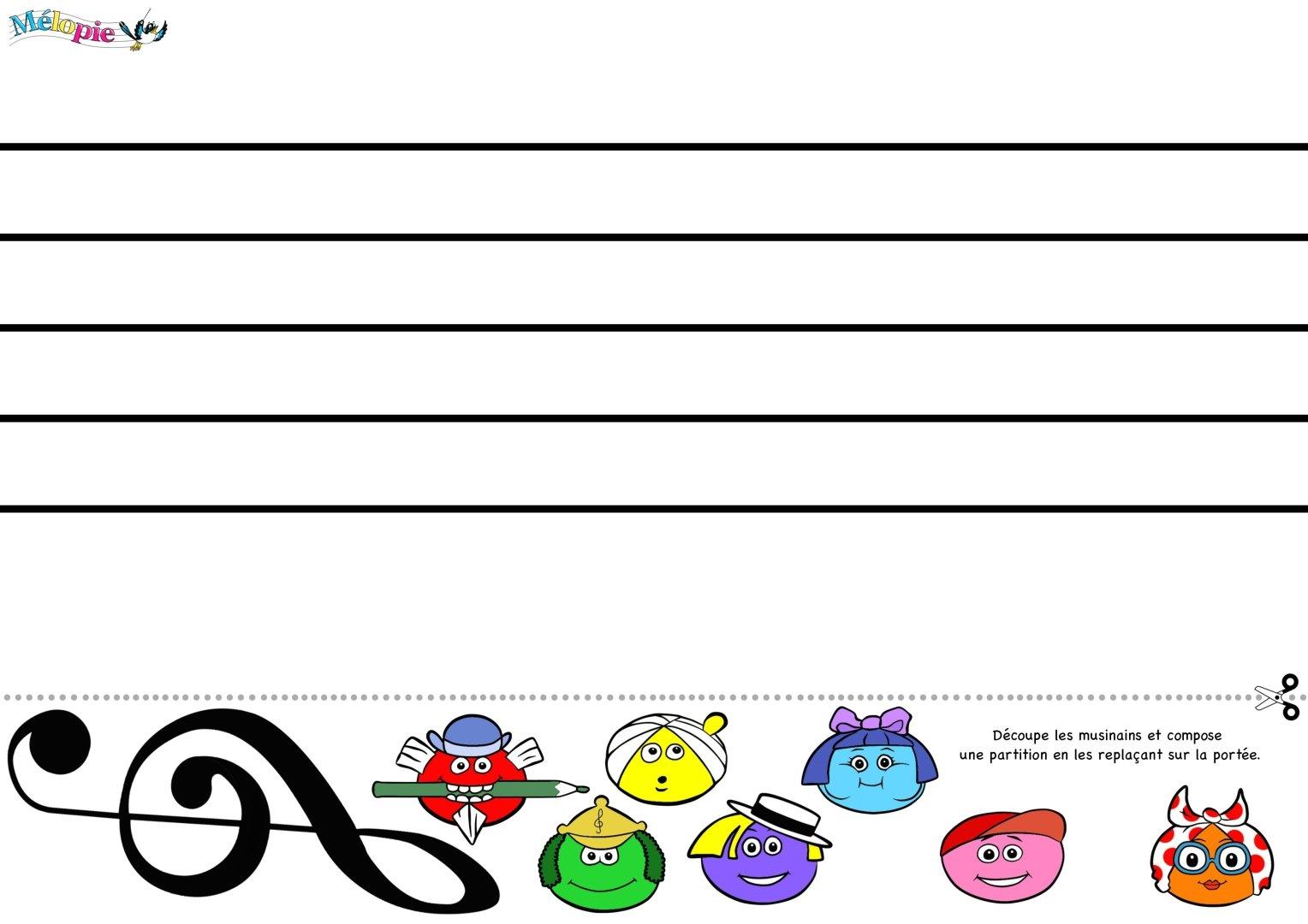 Bien connu Composition, partition vierge | MÉLOPIE, apprendre en s'amusant ! FH34