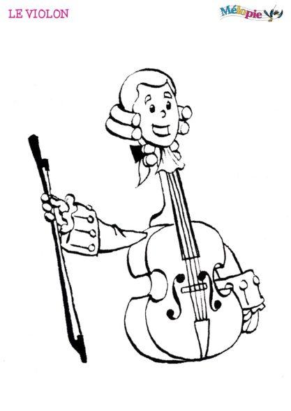dessin violon