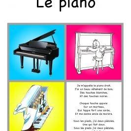 coloriage piano dessin