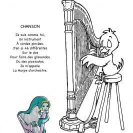 dessin harpe