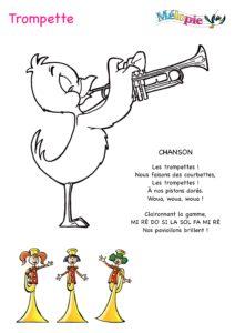 dessin trompette dessin