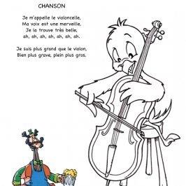 dessin violoncelle