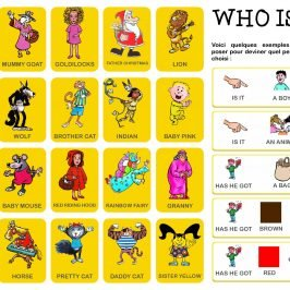 jeux anglais « Who is it ? »