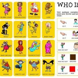 jeux anglais «Who is it ?»