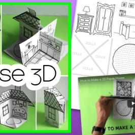 Bricolage maison 3D : jeu d'anglais et conte musical