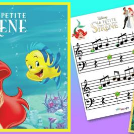 La petite sirène : Partition Partir là-bas au piano et conte musical