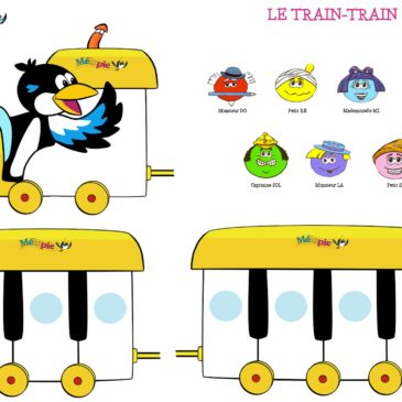 Enfant piano « le train-train du piano »