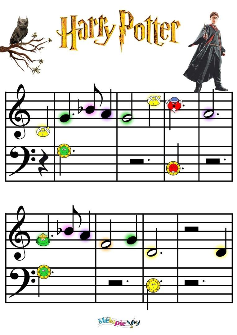 partition musique d'harry potter
