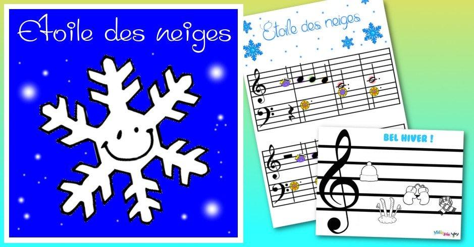 Étoile des neiges : partition et activité de musique