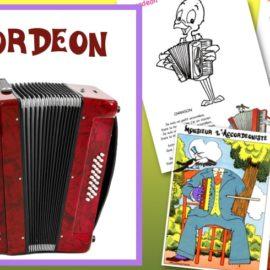 Dessin accordéon et fabrication d'instrument de musique
