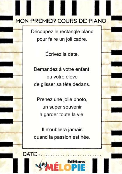 cadre photo rentrée piano