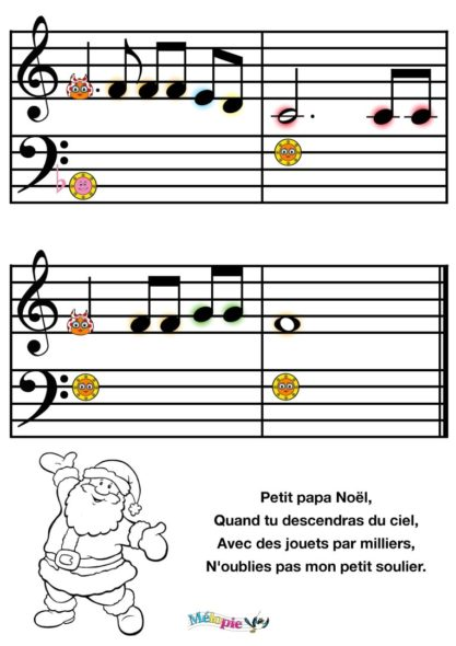 petit papa noel partition piano