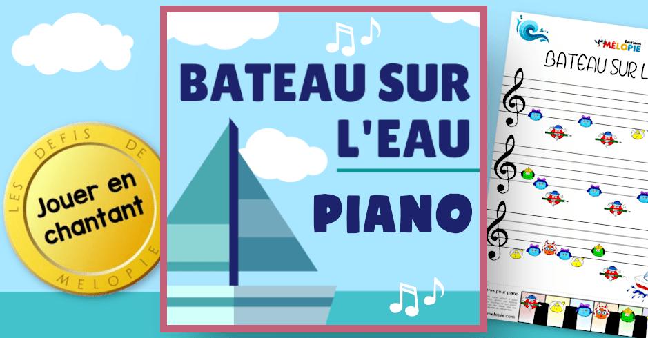 piano bateau sur leau